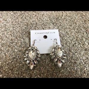 Large rhinestone earrings